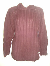 Ladies/girls soft touch chunky Brown jumper ANIMAL + hood Size 10,12,14,16 (M/L)
