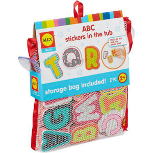 Alex Toys ABC Stickers In Tub Bathtime Alphabet Learning Fun Bath Toys For Kids