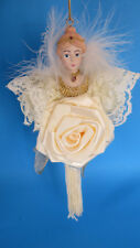 Christmas Lady With Flower & Fringes Ornament