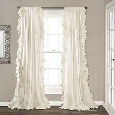 Lush Decor Reyna Window Curtain Panel Pair, 84 x 54, Ivory