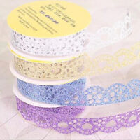 5 Lace Sticky Paper Self-Adhesive  Roll Bling Paper Stickers DIY Decor