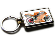 MV AUGUSTA SENNA Motorbike Koolart Chrome Keyring Picture Both Sides