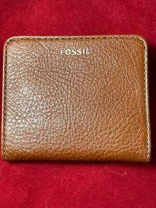 BNWT FOSSIL MADISON Bifold, Medium Brown Wallet Purse. Gift Idea RRP £42