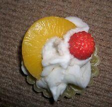 Decorative sculpted Pineapple cream tart candle