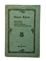 🔺 Rare! 1929 UNSEEN FORCES - Manly P. Hall spirits, occult, esoteric, palmer