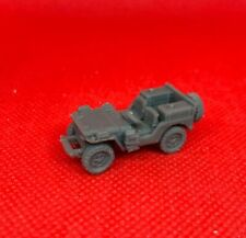 SAS JEEP w/ SPARE on REAR & FUEL CANS ~ 3D PRINTED 1/72 1/87 1:100 SCALE *1256
