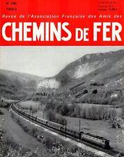 revue AFAC service été1964 18p, statistiques 9p, vitesse chez Deutche Bundesbahn