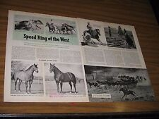 1948 Magazine Photos Speed King of the West Horses,Cowboys
