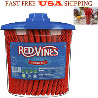 Red Vines Licorice Original Red Flavor Soft and Chewy Candy Twists 3.5 Pound 1pk
