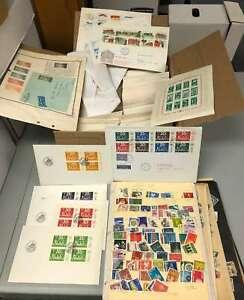 D1955: Old Time Estate Stamp Lot; Envelopes, Stockpages