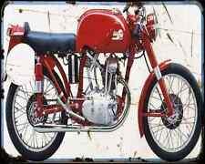 Ducati 125 Gran Sport A4 Metal Sign Motorbike Vintage Aged