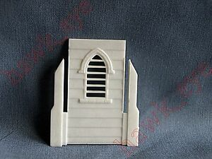 Plasticville Country Church White Steeple Piece O-S  Scale HTF