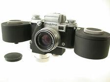 Praktina II a spring motor Drive bulk película Back Zeiss Flexon 2/50 50 50mm/18k