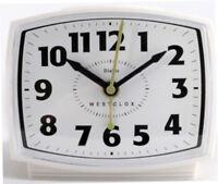 Westclox Alarm Clock Electric White Plastic Case 22192A