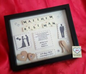 BEST MAN Thank You Gift PERSONALISED Frame Picture Keepsake
