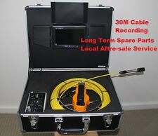 30M Cable Under Water Sewer Drain Pipe Wall Inspection Recording Camera