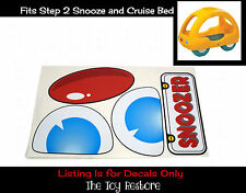 Replacement Decal Stickers fits Step 2 Snooze and Cruise Snuggle Bug Bed Toddler