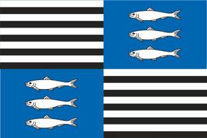 Aufkleber Vézelise (Frankreich) Fahne Flagge 30 x 20 cm Autoaufkleber