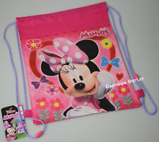 12 MINNIE MOUSE SLING BAG DRAWSTRING  BACKPACK PARTY FAVORS LOT BIRTHDAY DISNEY
