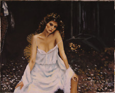 Old Picture Of a Prostitute  Oil Painting