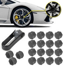 20pcs Car Wheel Nut Bolt Center Cover Gray 17mm Caps + 1x Clip for VW Audi EVU