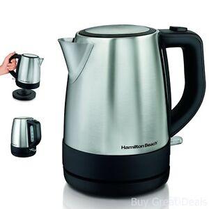 Stainless Electric Kitchen Kettle Pot Hot Water Tea Quick Boil Hamilton Beach