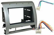 Car Stereo Radio Cd Player Dash Installation Mounting Kit Mount Trim + Harness
