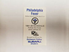 Philadelphia Fever 1981/82 MISL Indoor Soccer Pocket Schedule - Subaru