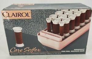 Clairol Soft Cushioned Surface 20 Custom Care Setter Hot Velvet Rollers