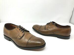 GREAT COND Allen Edmonds Lexington Taupe Bourbon Oxford Cap-toe Dress Shoes SZ 8