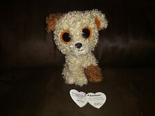 """TY Beanie Boos Collection ROOTBEER THE PUPPY DOG 6"""" Plush Toy Rare"""
