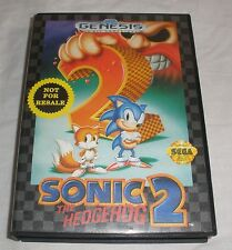 Sonic 2 Sega Genesis video game CIB nice condition