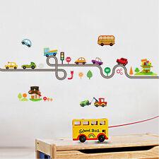 Lovely Cartoon Car Vinyl Wall Sticker Kids Bedroom Nursery Home Decal Removable