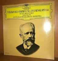 TCHAIKOVSKY Symphony 5 MRAVINSKY Sealed MINT DGG Mono LP Vinyl RECORD Scarce M/M