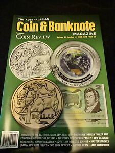 The Australian Coin & Banknote Magazine Volume 21 number 5 June 2018 free post