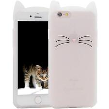 iPhone SE / 6 / 7 / 8 PLUS / XS - Soft Silicone Rubber Skin Case Cover Kitty Cat