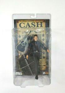 """JOHNNY CASH Man In Black 2006 Sota Toys 7"""" Action Figure New Original Sealed"""