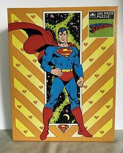 Vintage 1989 Superman Jigsaw Puzzle 200 pieces Sealed NEW Golden
