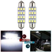 2X 42mm White 3528-12-SMD Car LED Bulb Festoon Interior Read Map Lights Lamp 12V