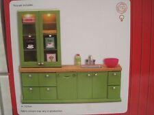 Puppenstube Küche Küchenzeile mit Licht u. Zubehör *NEU* Lundby Smaland