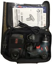 Bosch Ps20 Pocket Driver 10.8v With Two Battery, Charger And Carrying Case
