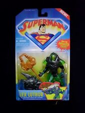 Superman - Lex Luthor with Kryptonite Armor Action Figure - Kenner 1996