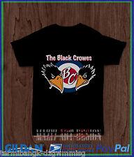 the black crowes logo Black Tee Gildan T-shirt 100% Cotton