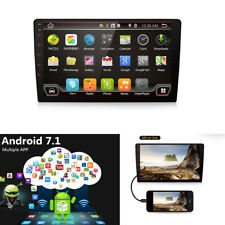1 Din Android 7.1 Bluetooth Stereo Head Unit Media Player GPS FM Wifi Handsfree