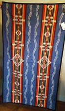 New Pendleton Rim Rock Saddle Blanket Denim USA Wool Cotton 66x39 NWT