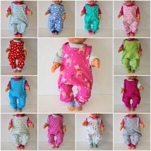 Handmade Puppenkleidung Strampler Sets für 40 bis 43cm Babypuppen - NEUe Sets