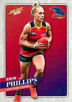 ✺New✺ 2020 ADELAIDE CROWS AFLW Card ERIN PHILLIPS Footy Stars