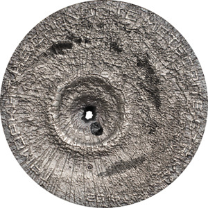 Cook Islands 2016 2$ Tamdakht Meteorite Strike 1/2 Oz Antique Silver Coin