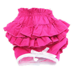 Doggie Design Soft Cotton Ruffled Dog Panties All Colors