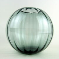 WMF Turmalin Kugel Glas Vase, Entwurf Wilhelm Wagenfeld 50er, Industriedesign